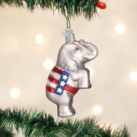 Old World Christmas Republican Elephant Ornament
