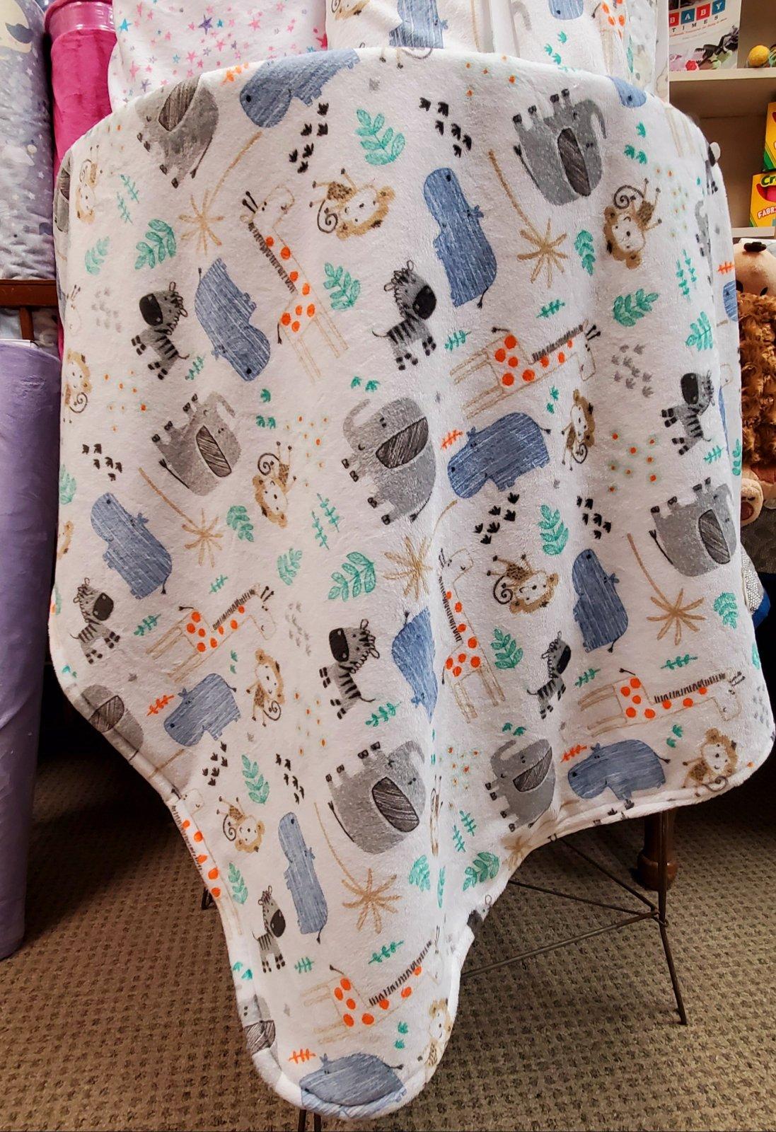 Cuddly Blanket Kit - Safari animals