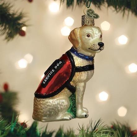 Old World Christmas Service Dog Ornament