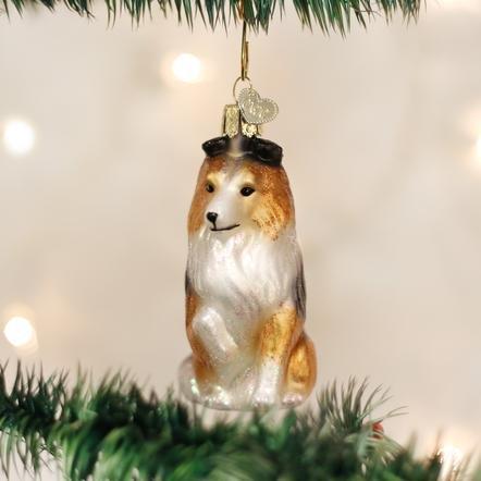 Old World Christmas Sheltie Ornament