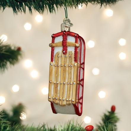 Old World Christmas Sled Ornament