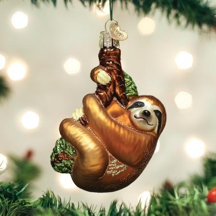 Old World Christmas Sloth Ornament