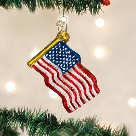 Old World Christmas Star-Spangled Banner Flag Ornament