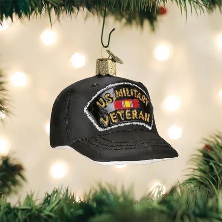 Old World Christmas Veteran's Cap Ornament