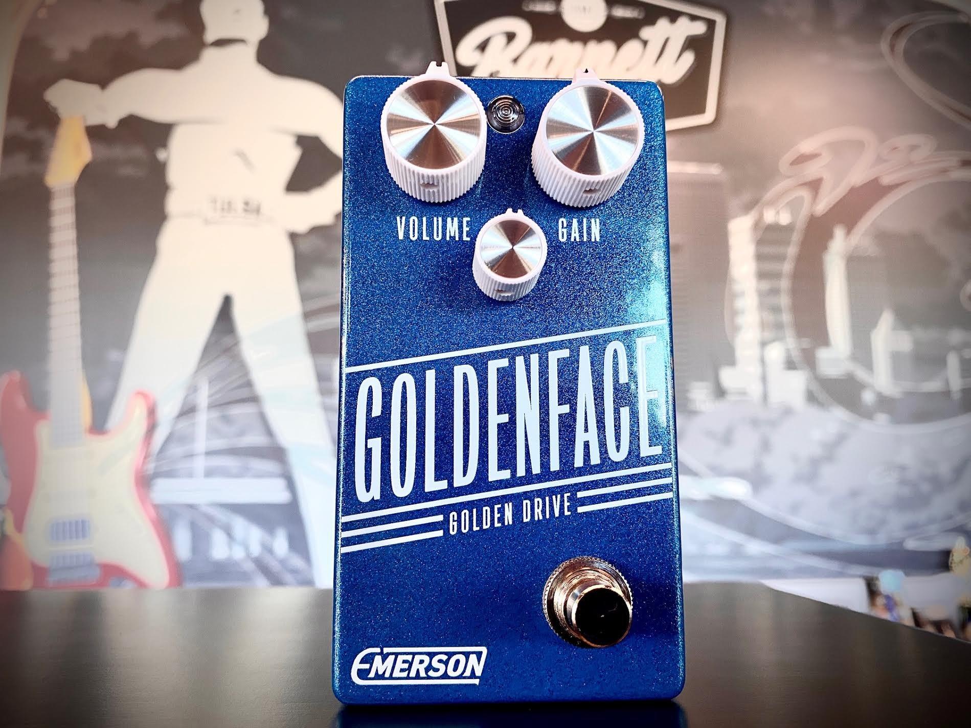 Emerson Custom Goldenface Golden Drive in Limited Blue Sparkle