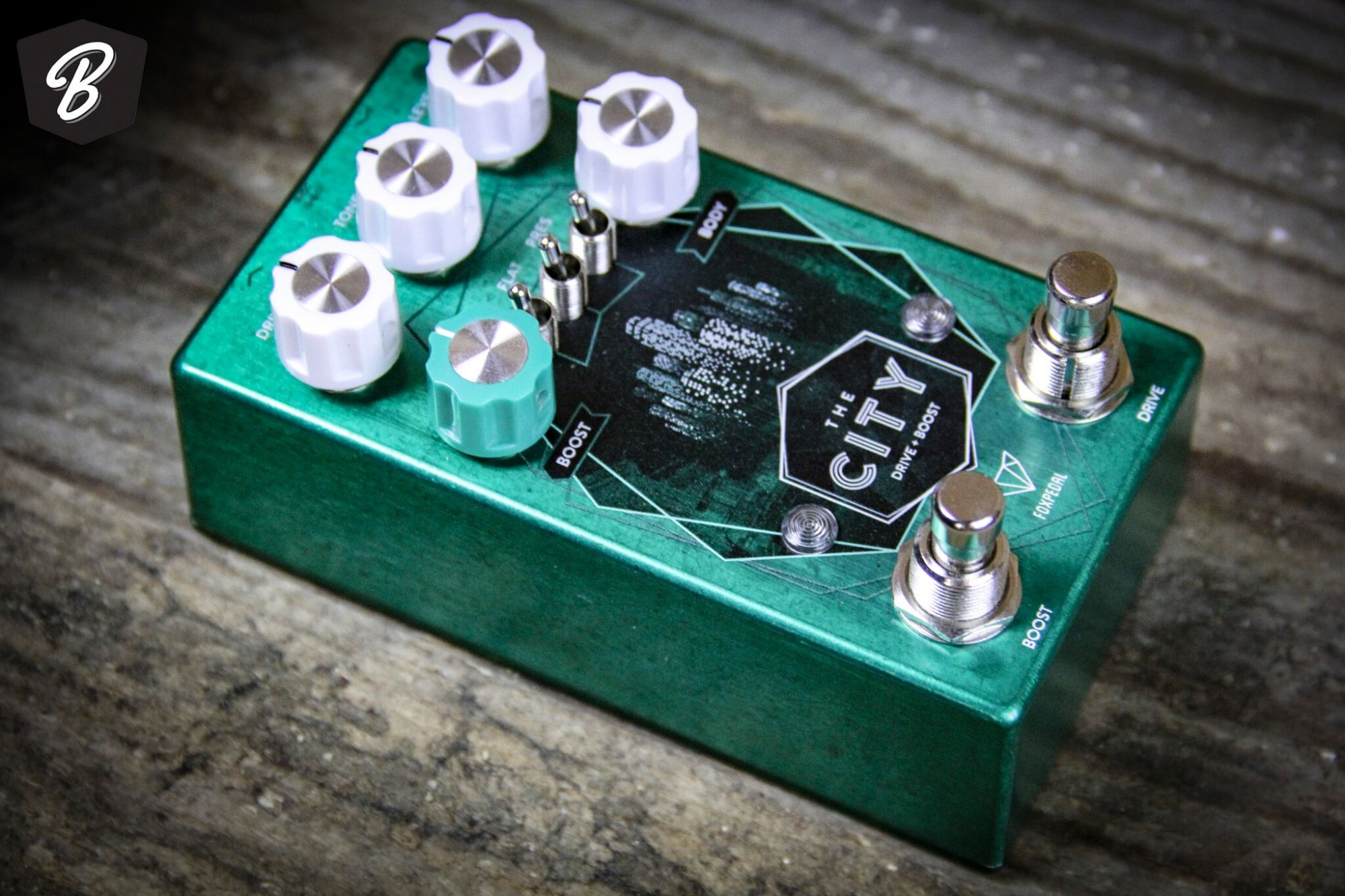Foxpedal The City V2 TS Style Overdrive and Boost