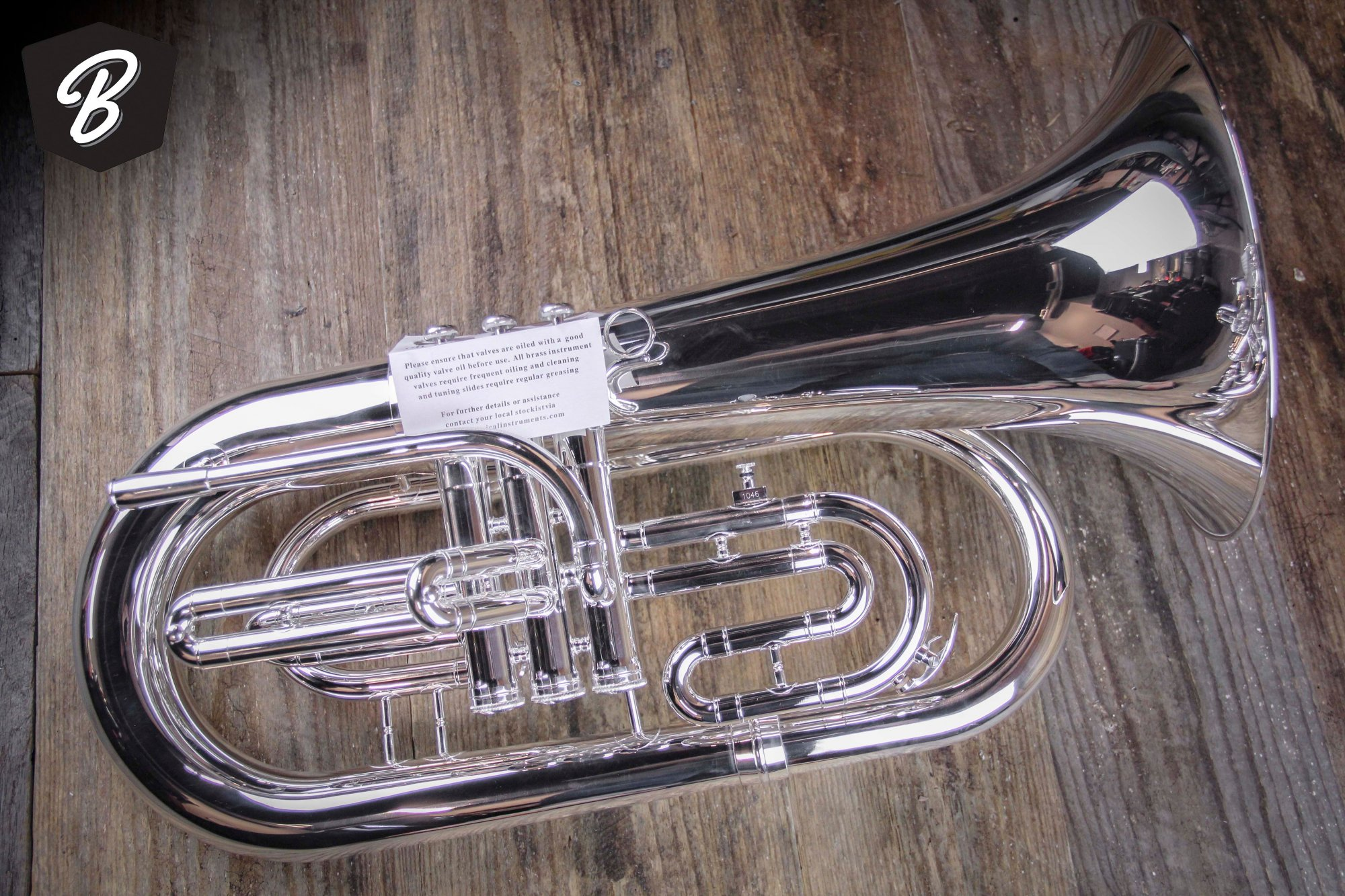 JP 2054S Marching Euphonium in Silverplate w/Case