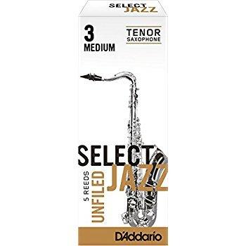 D'addario Jazz Select #3 Medium Tenor Sax Unfiled Reeds