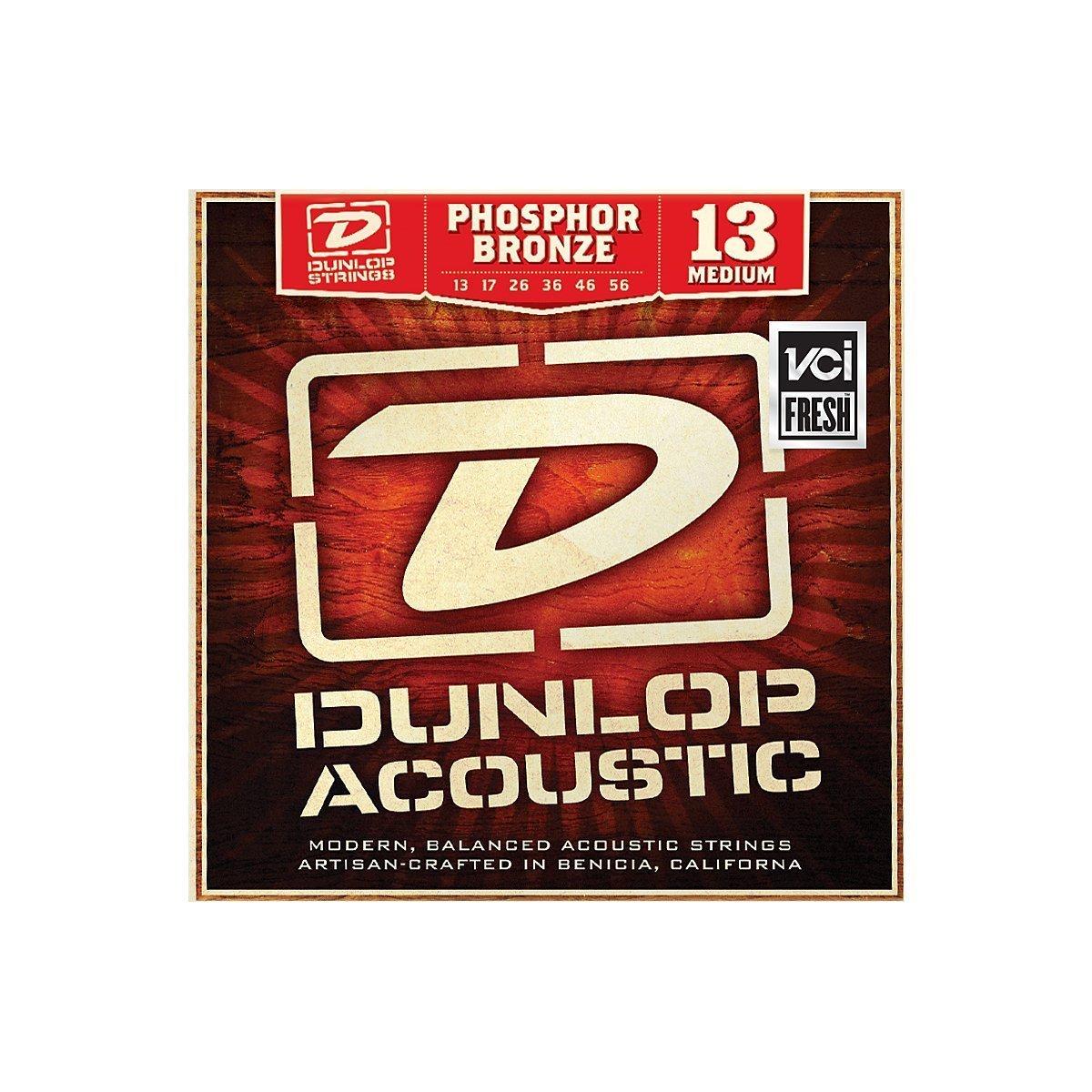 Dunlop 13/56 Phospher Bronze Acoustic Strings -MEDIUM