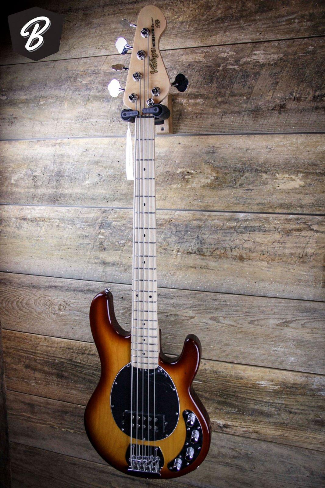 Vintage Reissued Five String V965TSB Brown Burst