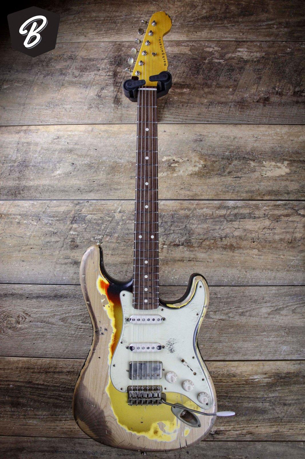 nash s63 hss strat guitar with hardshell case 876543456787654. Black Bedroom Furniture Sets. Home Design Ideas