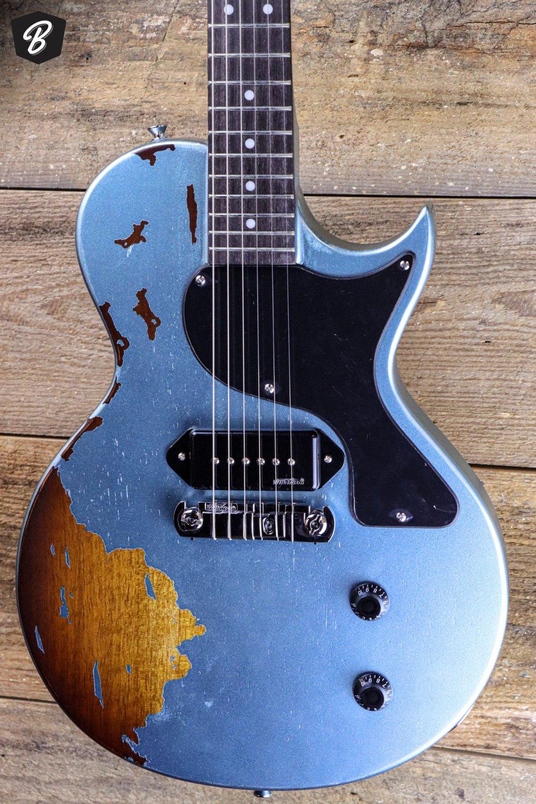 Vintage V120MRGHB Gun Hill Blue Over Sunburst