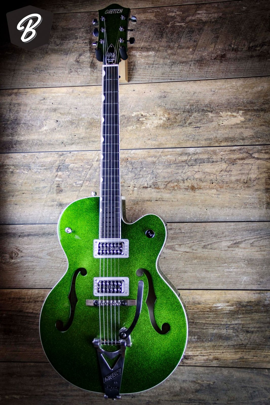 Gretsch BRIAN SETZER SIGNATURE HOT ROD HOLLOW BODY WITH BIGSBY w/ Hardcase