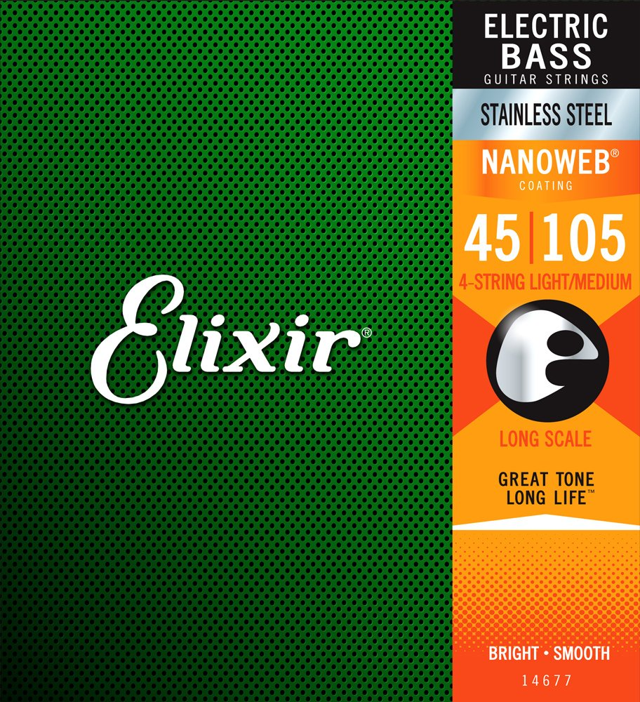 Elixir Bass Strings  45-105 Stainless Steel