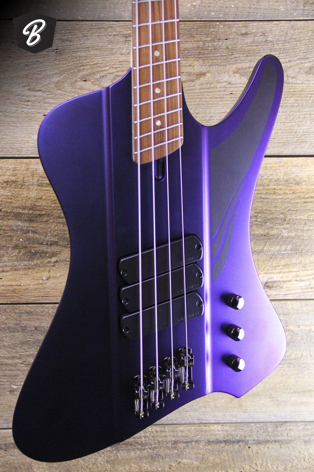 Dingwall D-Roc Standard  in Matte Blue to Purple Colorshift Finish