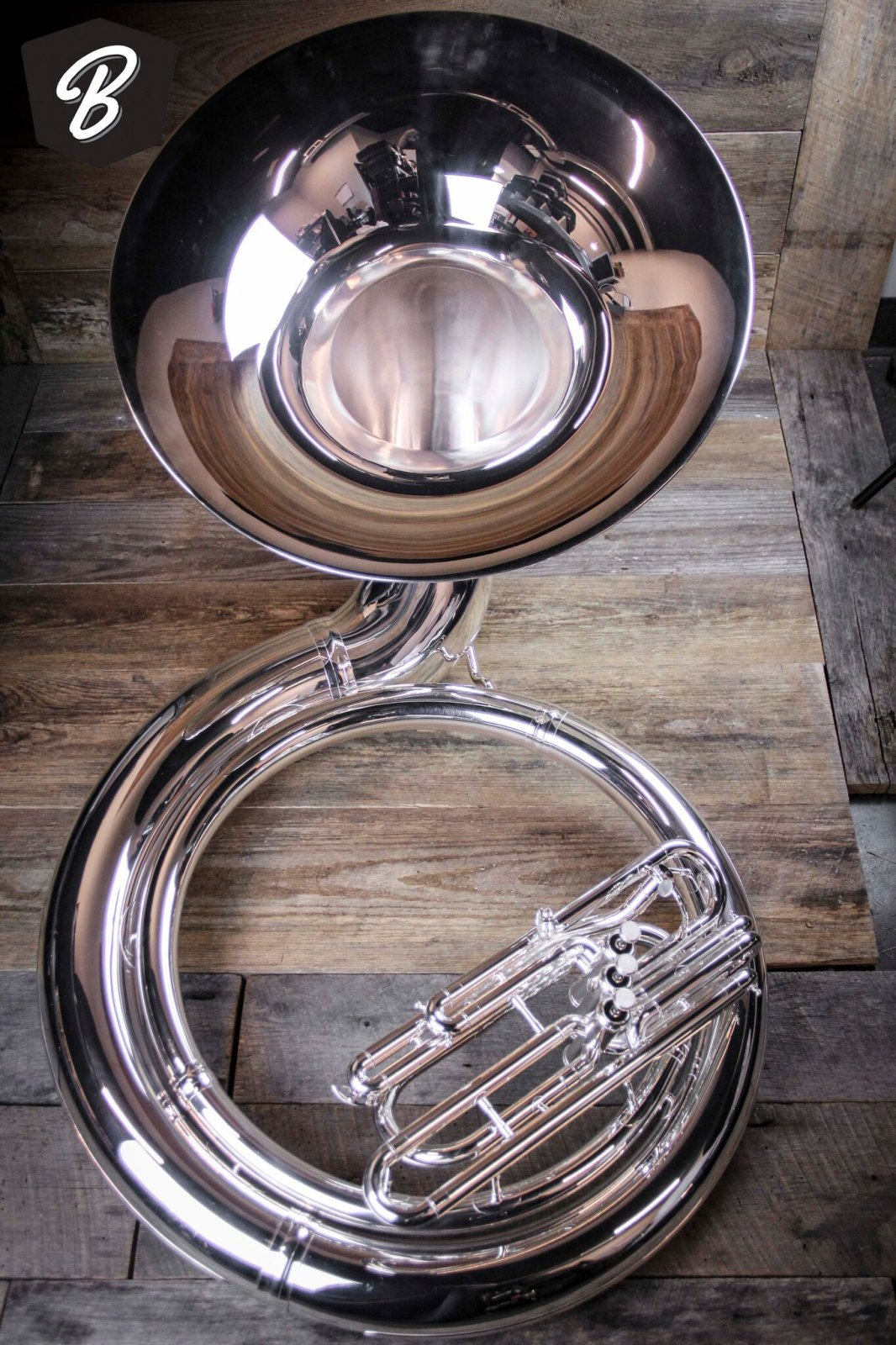 JP2057s Sousaphone in Silver w/ABS Case