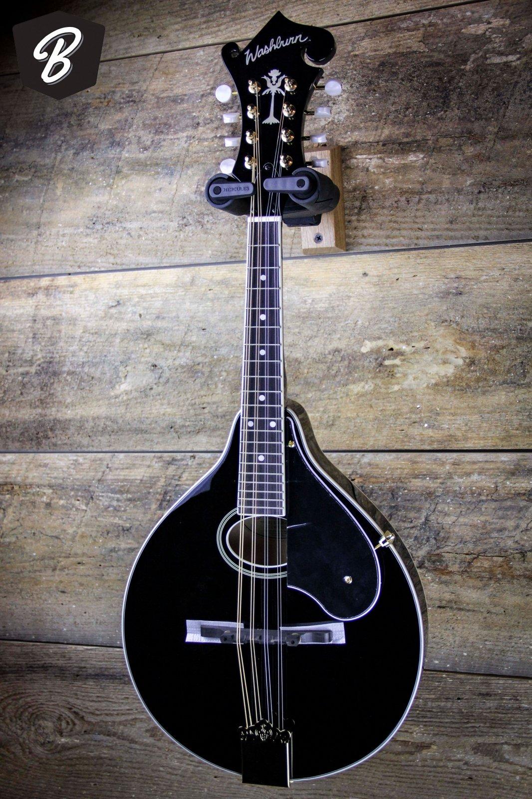 Washburn Americana M1SDLB Series A-Style Mandolin in Black