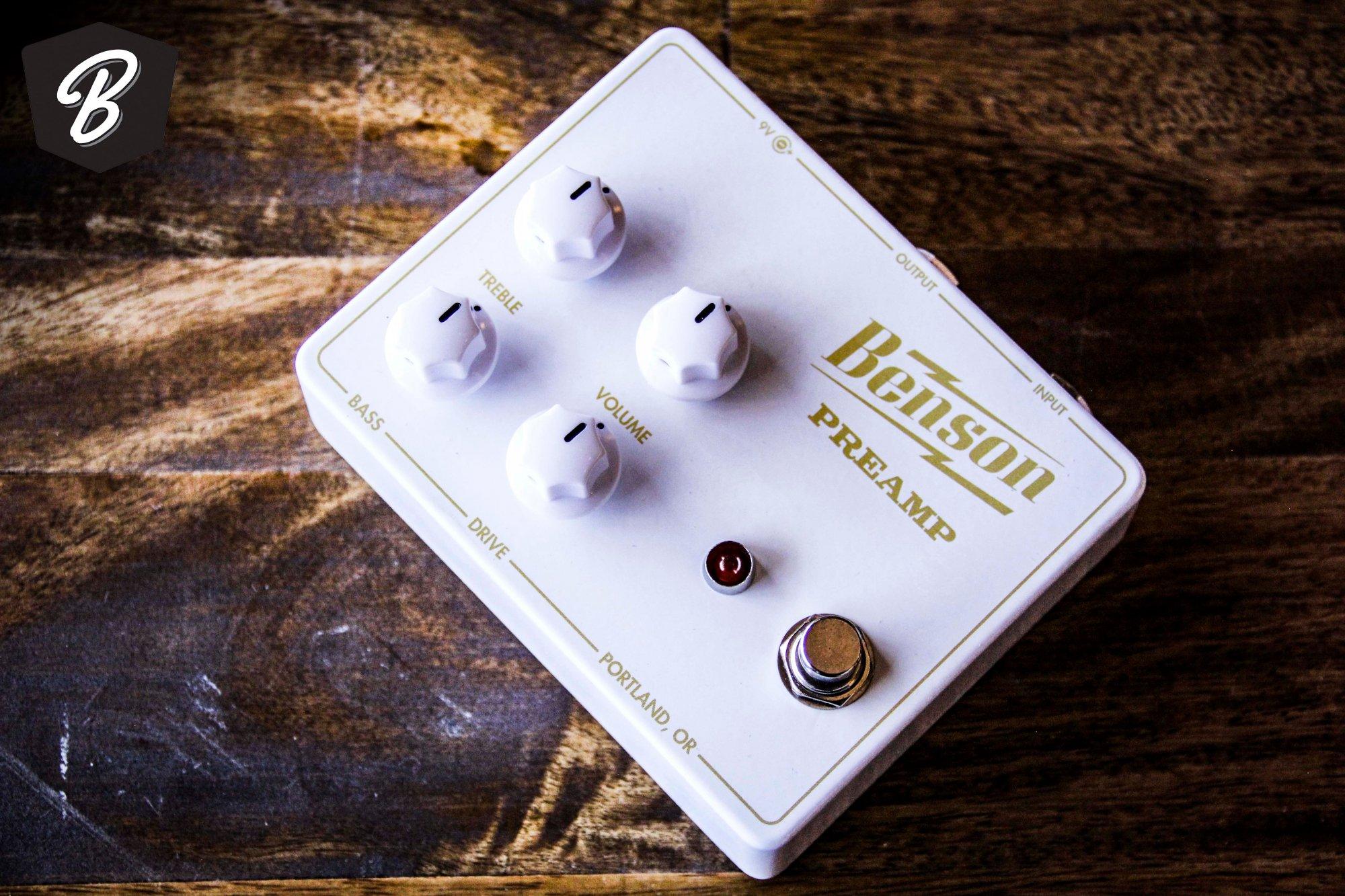 Benson Preamp Pedal BME Exclusive Color White/Gold