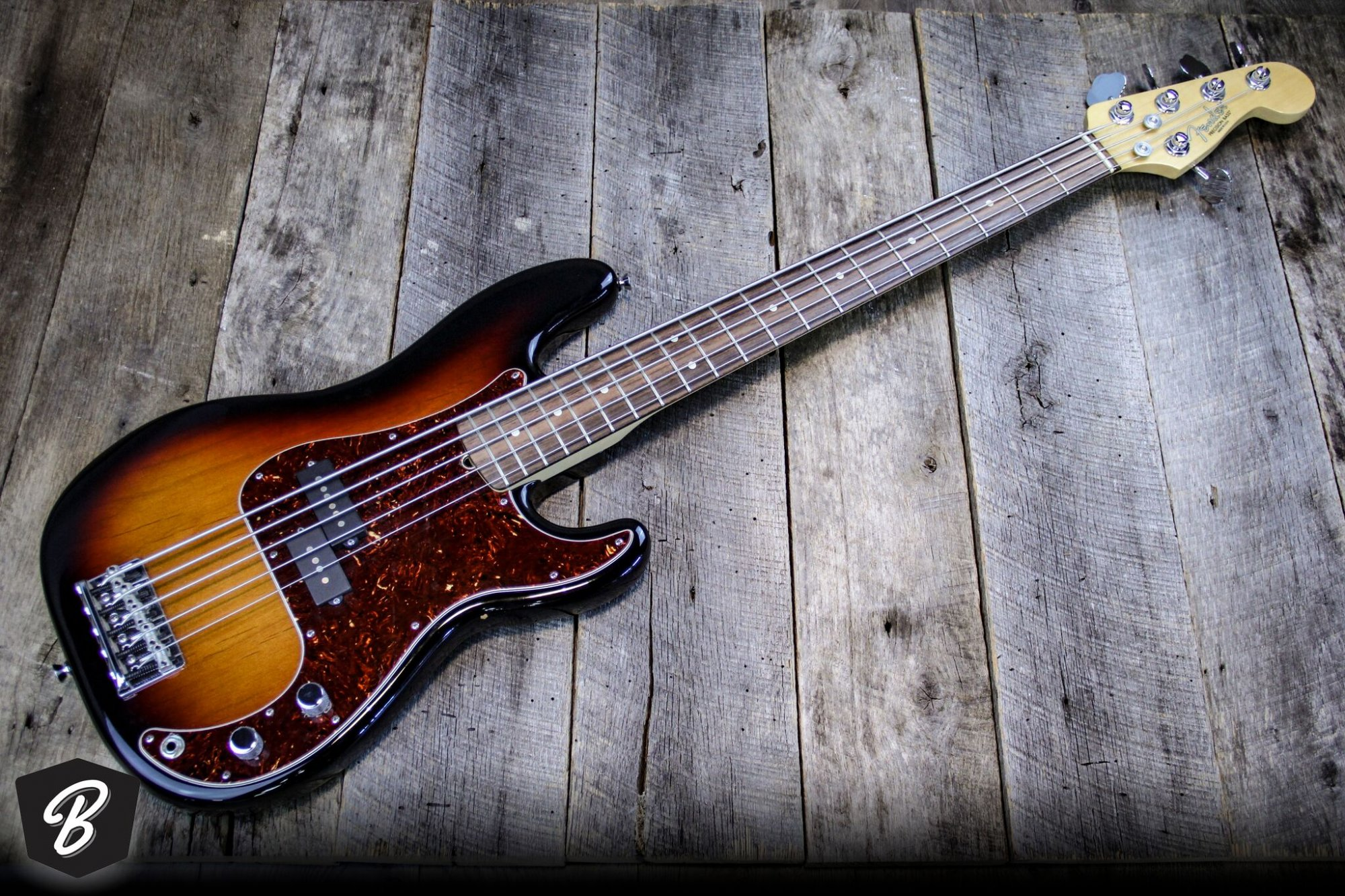 Fender Precision 5-string Bass in Sunburst