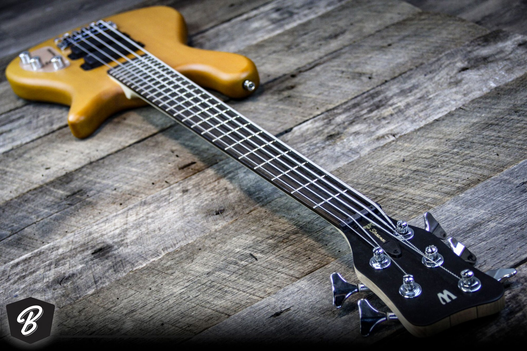 Warwick RockBass Streamer 5-String Bass in Honey Oil Finish