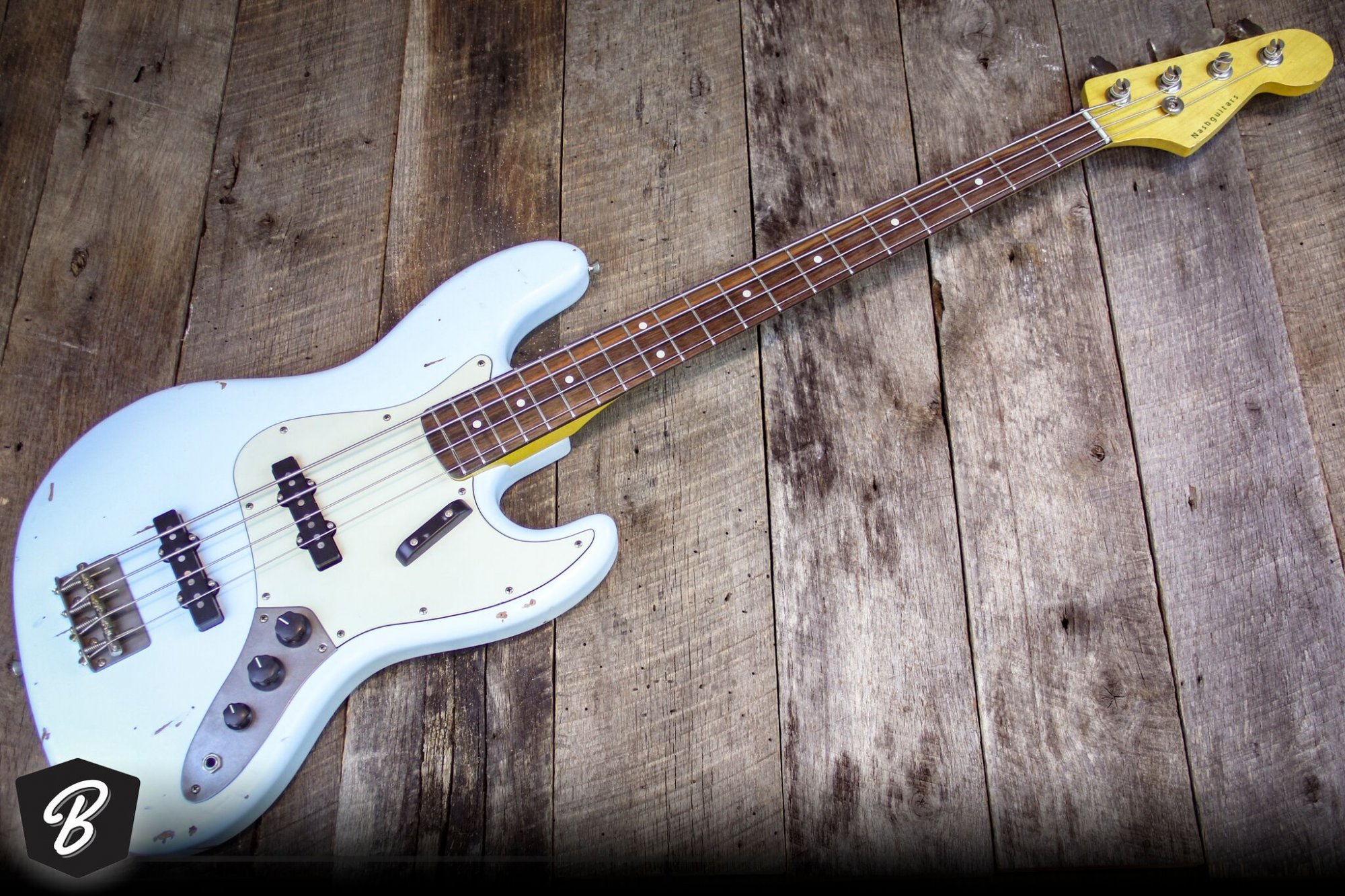 Nash JB63 Bass in Sonic Blue, Alder Body