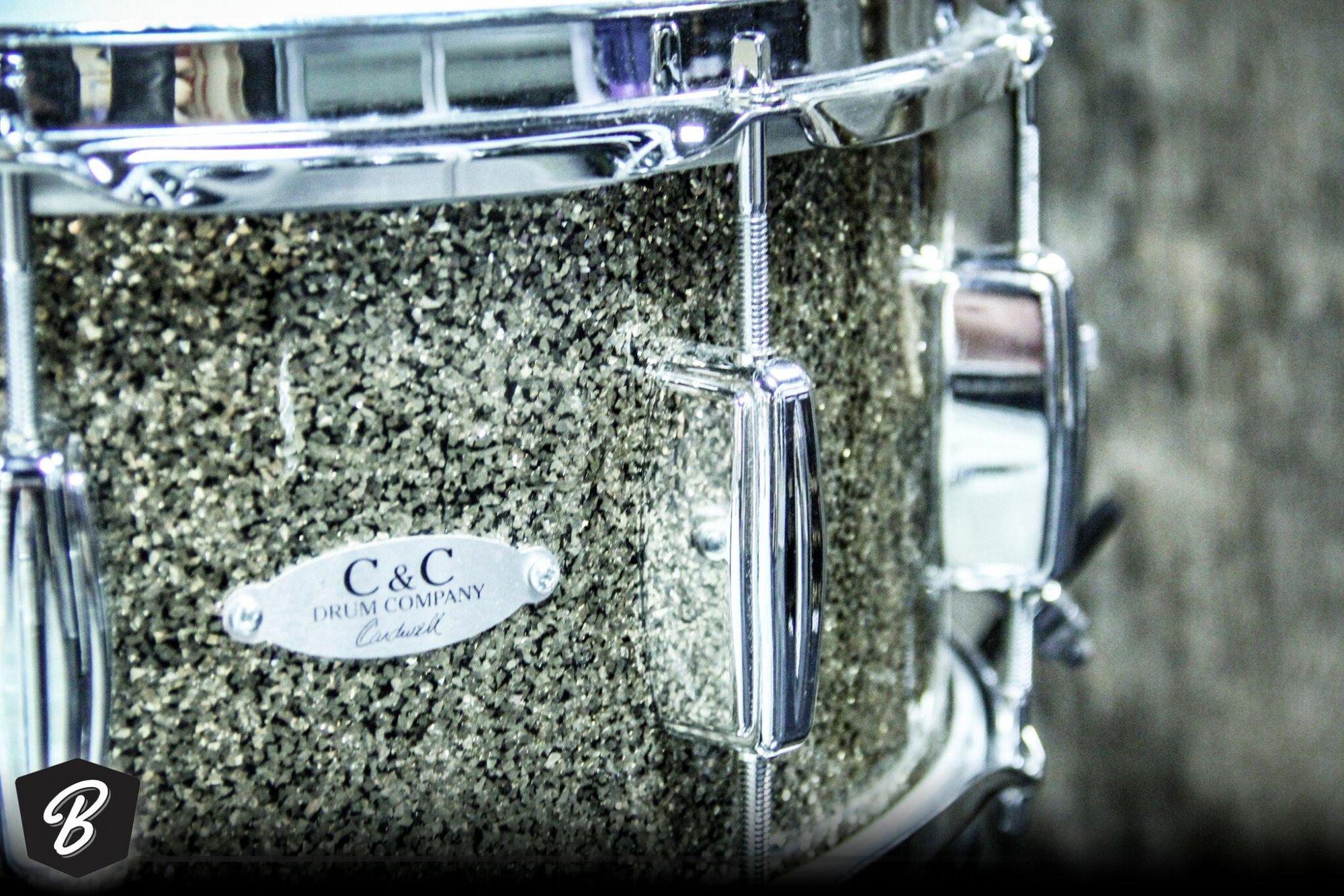 C&C Drum Company 6.5x14 Gladstone Snare in Ginger Glitter