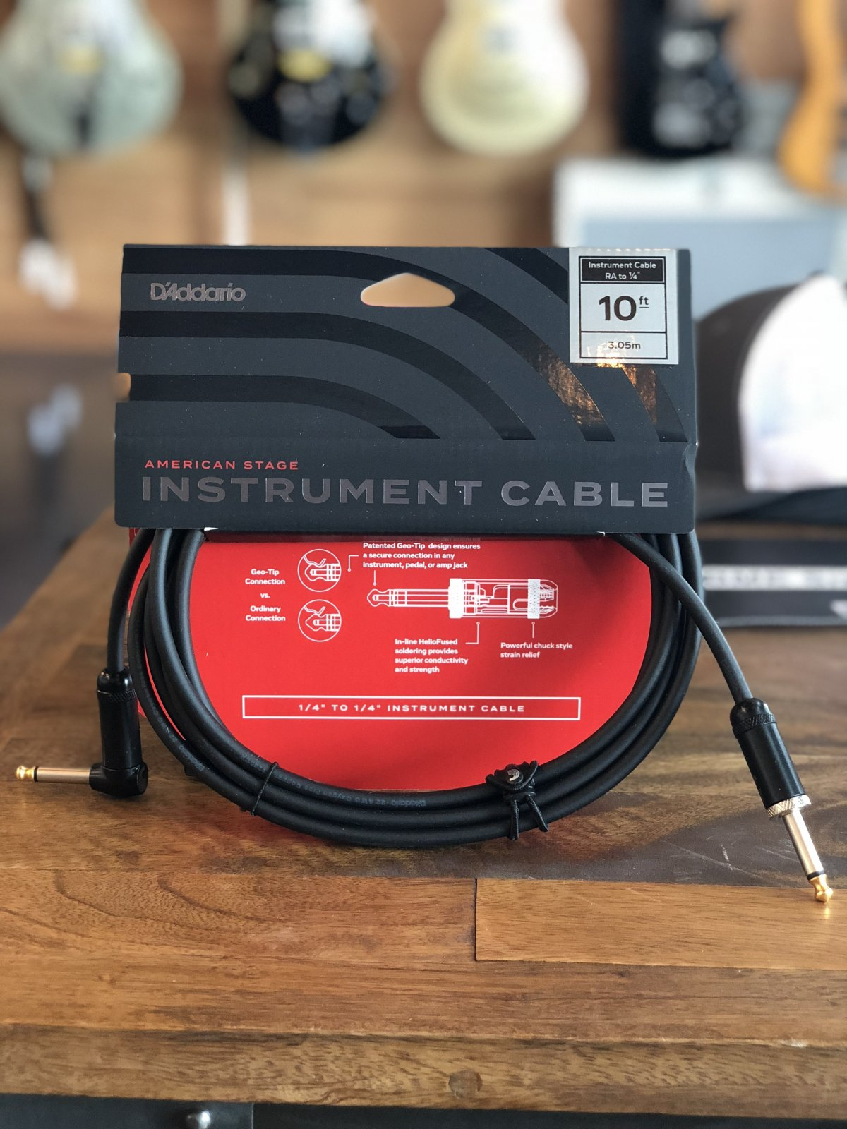 American Stage 10' Instrument Cable- S-RA