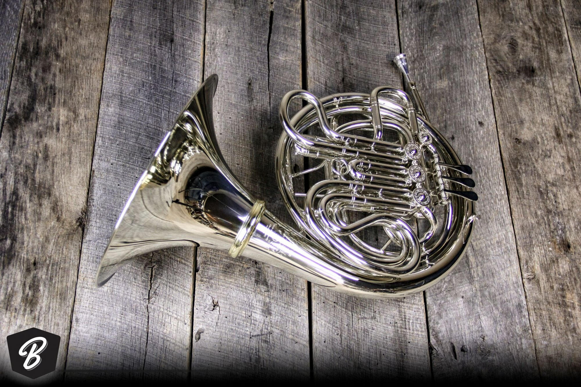 Hans Hoyer HH6801NSA-L Nickel Silver Heritage Double Horn, Screw Bell Screw Belll