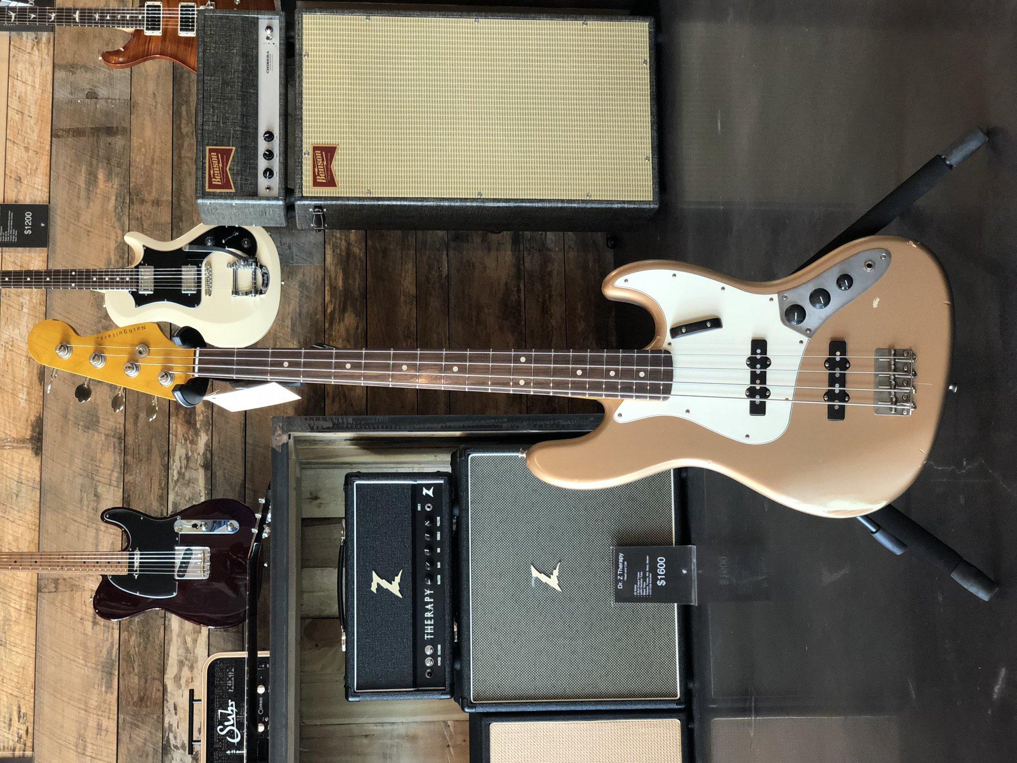 Nash GuitarsJazz Bass JB-63 in Les Paul Gold w/Hardshell Case