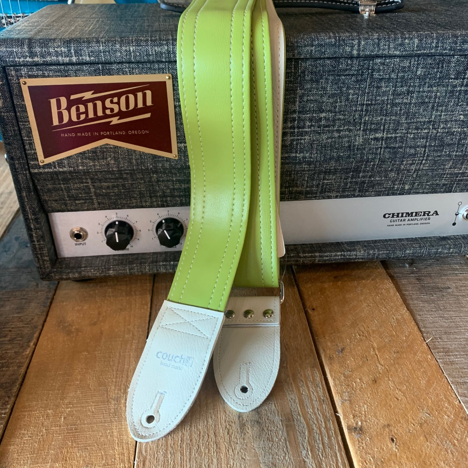 Couch Vintage Candy Guitar Strap Lime Punch Green L079