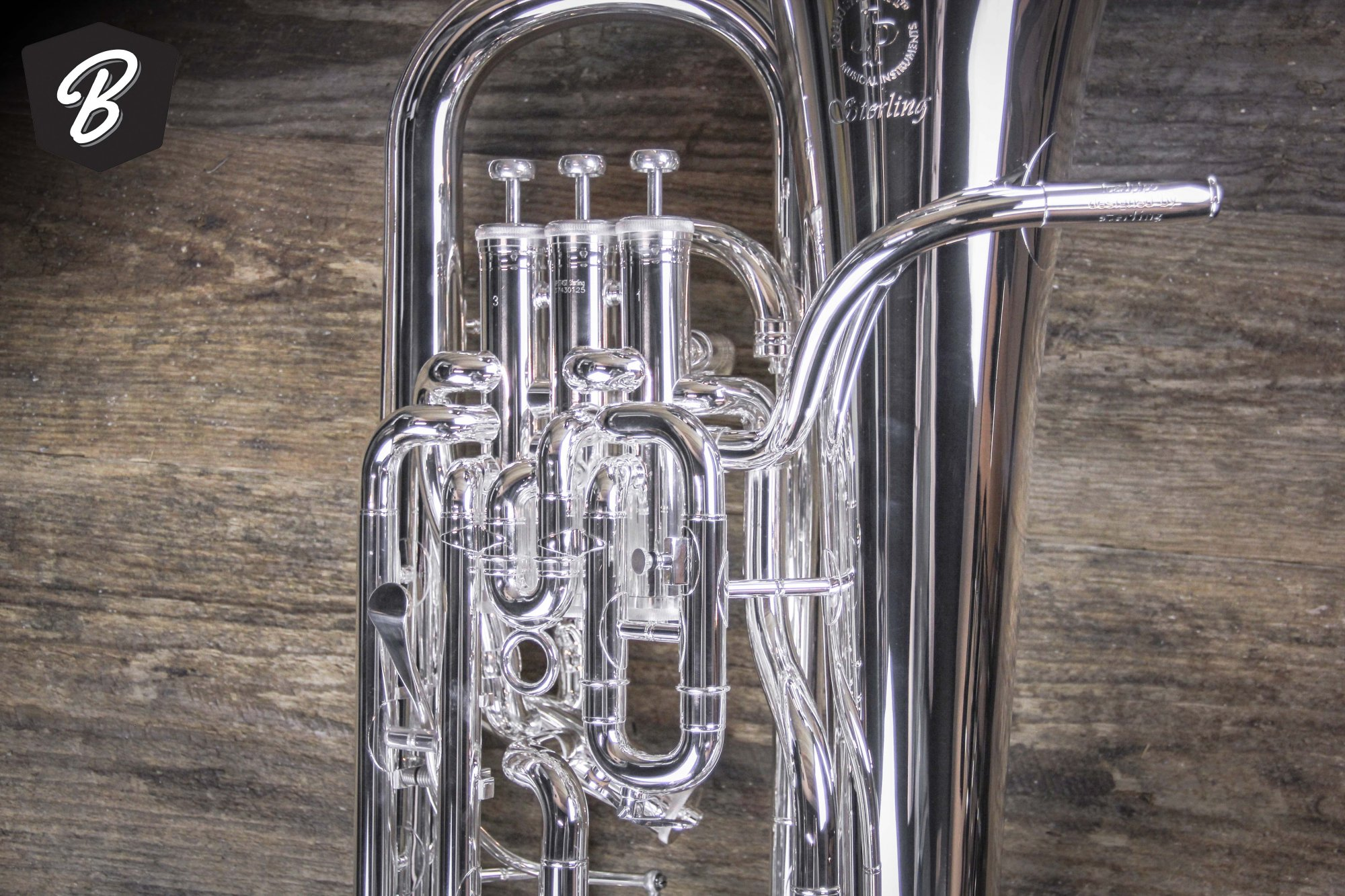 JP374ST Sterling Euphonium in Silver plate w/Slide Trigger & JP Pro Case