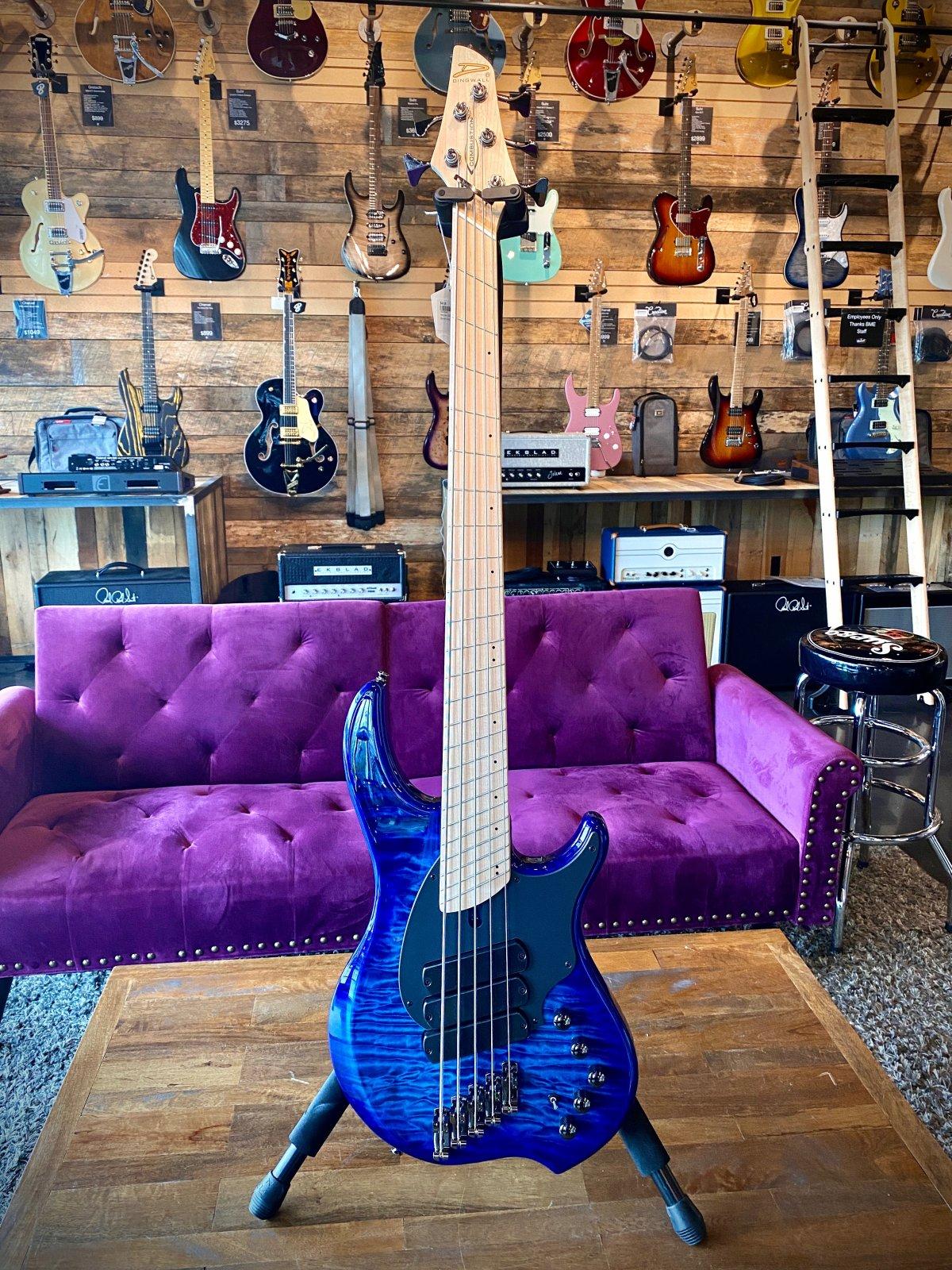Dingwall Combustion 5-String Bass in Indigo Burst