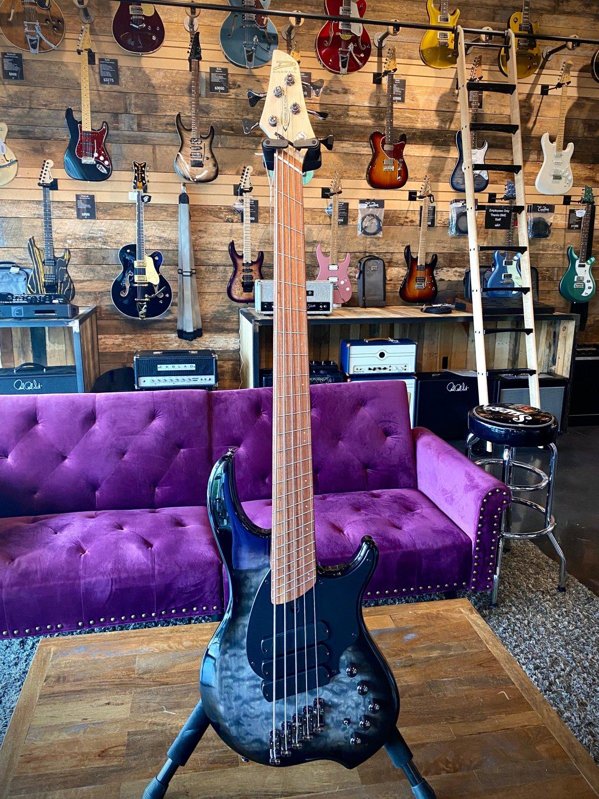 Dingwall Combustion 5-String Bass in Blackburst Finish