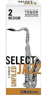 D'addario Select Jazz 2 Medium Unfiled Tenor Sax Reeds