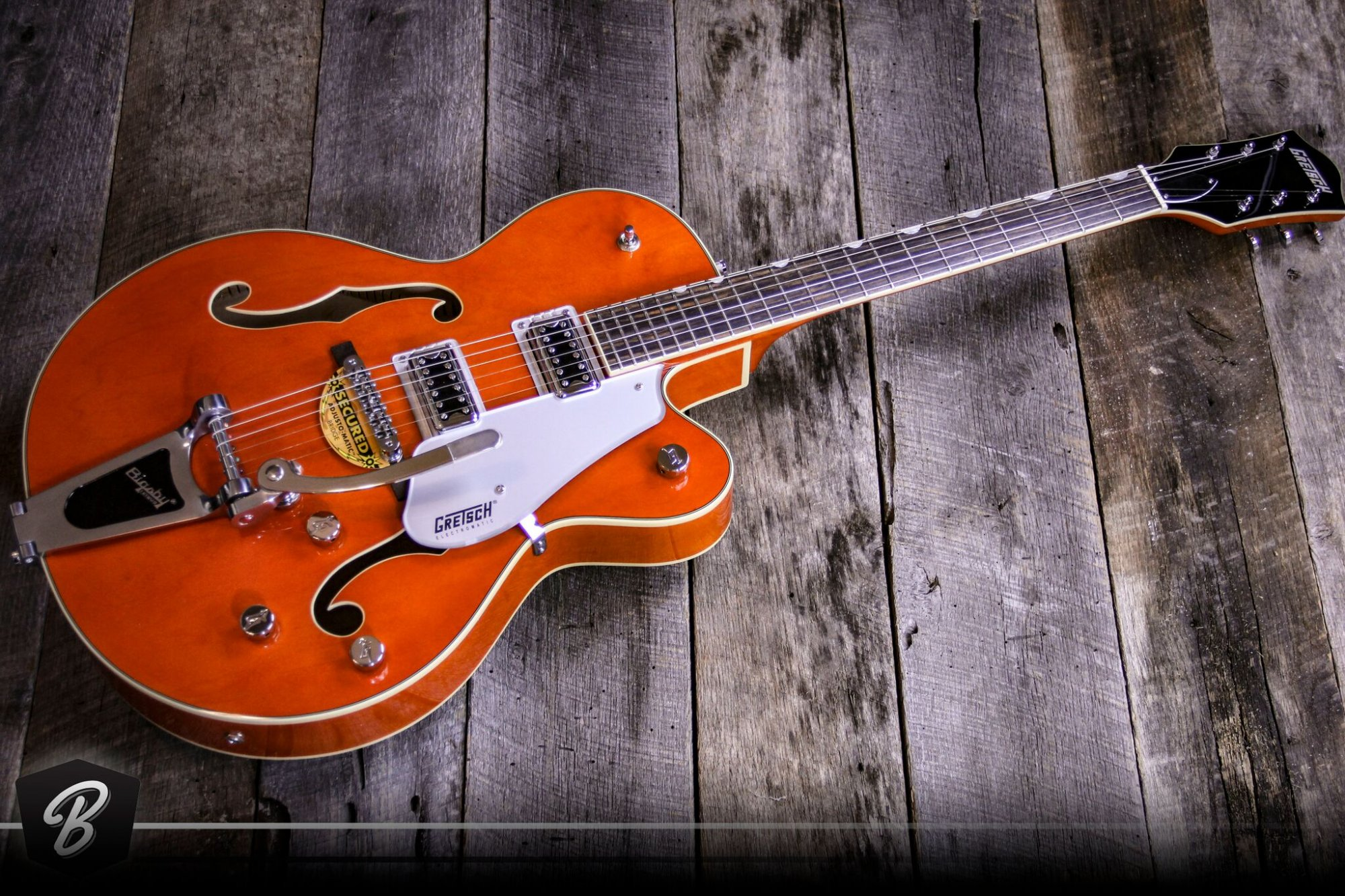 Gretsch G5420T Electromatic Single Cutaway Hollow Body w/Bigsby in Orange Stain