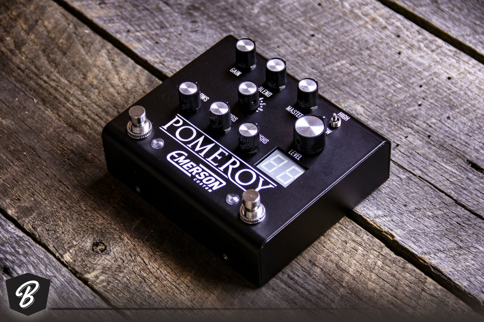 Emerson Pomeroy Overdrive / Boost / Distortion in Black