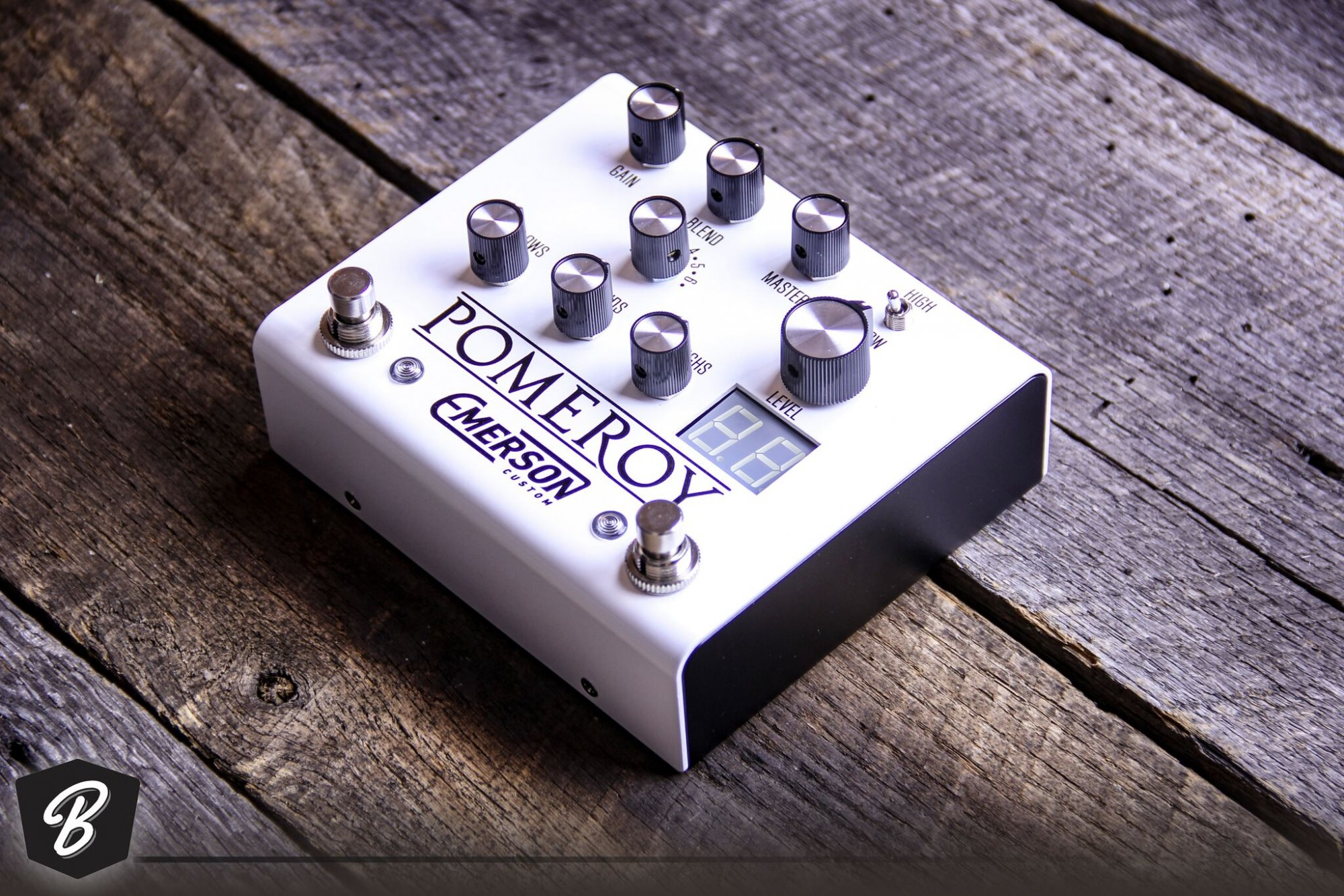 Emerson Pomeroy Overdrive / Boost / Distortion in White