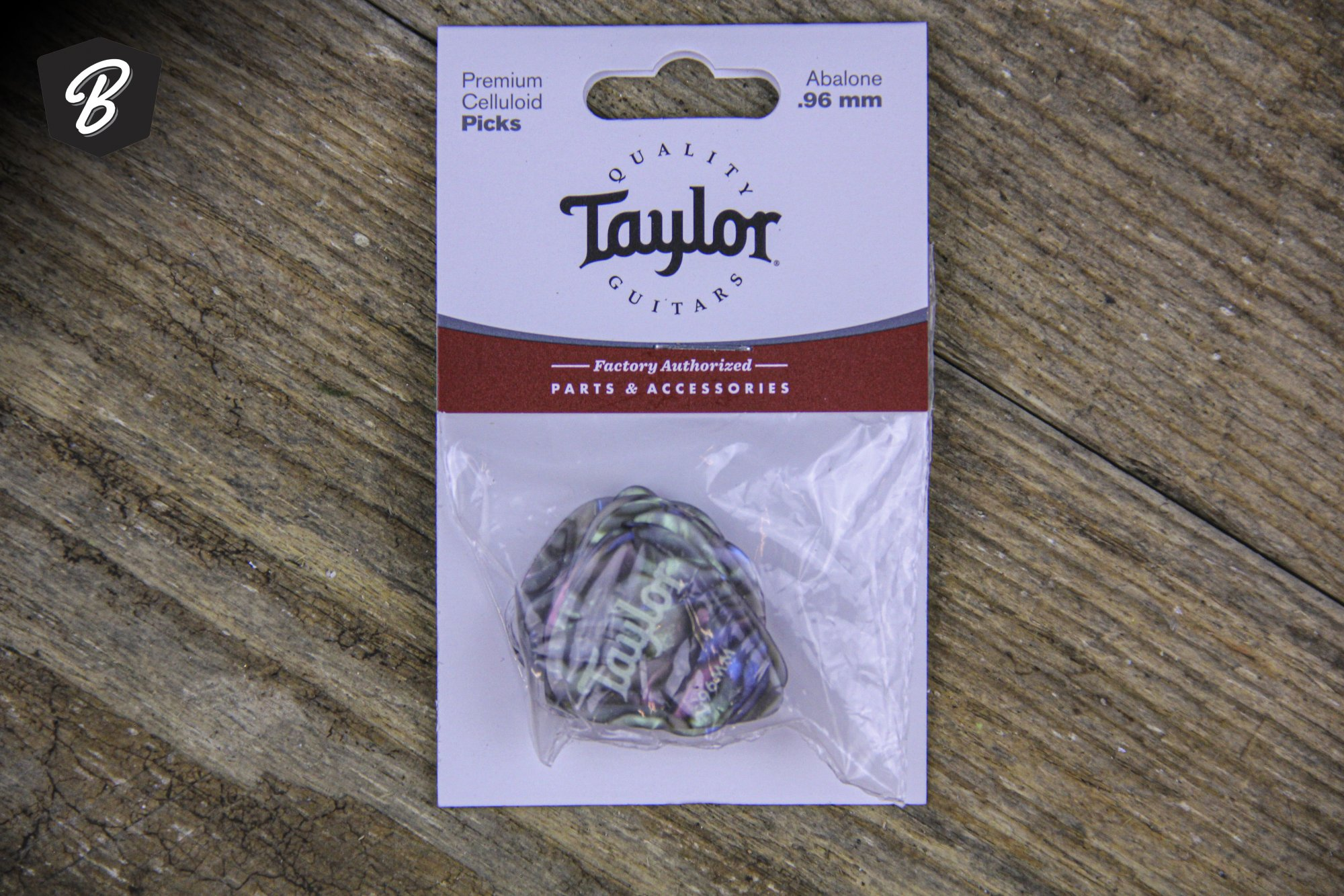 Taylor Celluloid Abalone 0.96mm 12-Pk
