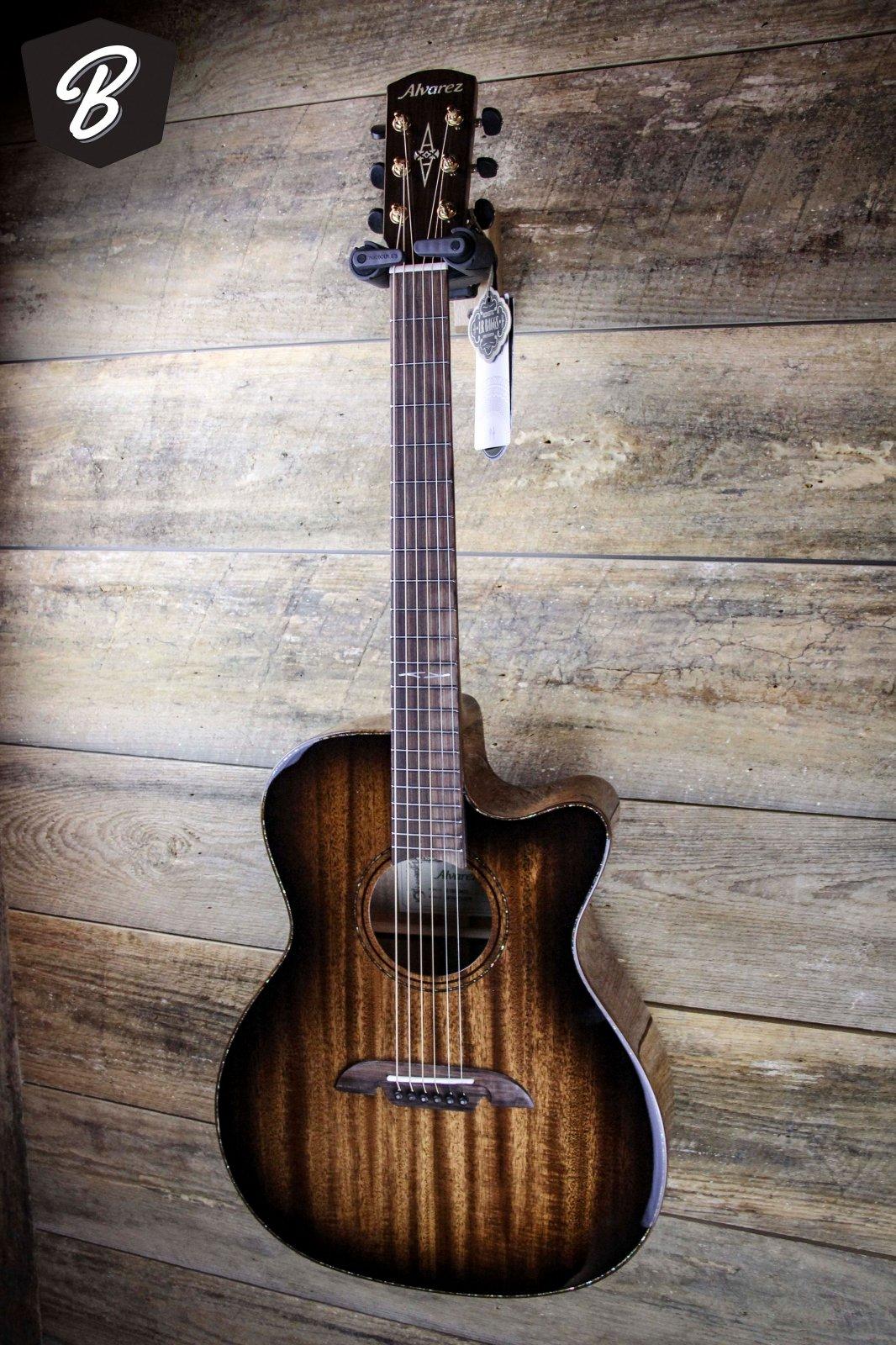 Alvarez MFA66CE Masterworks OM/Folk Acoustic-Electric Guitar Shadow Burst