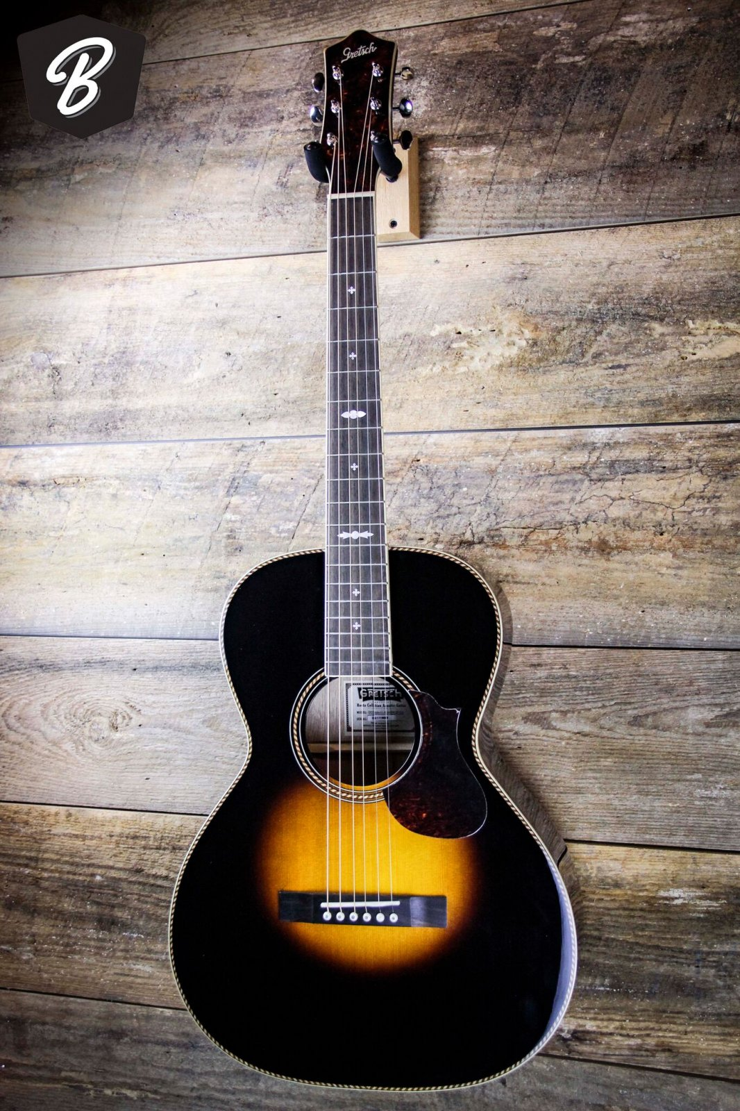 """Gretsch G9531 Style 3 Double-0 """"Grand Concert"""" Acoustic Guitar, Appalachia"""