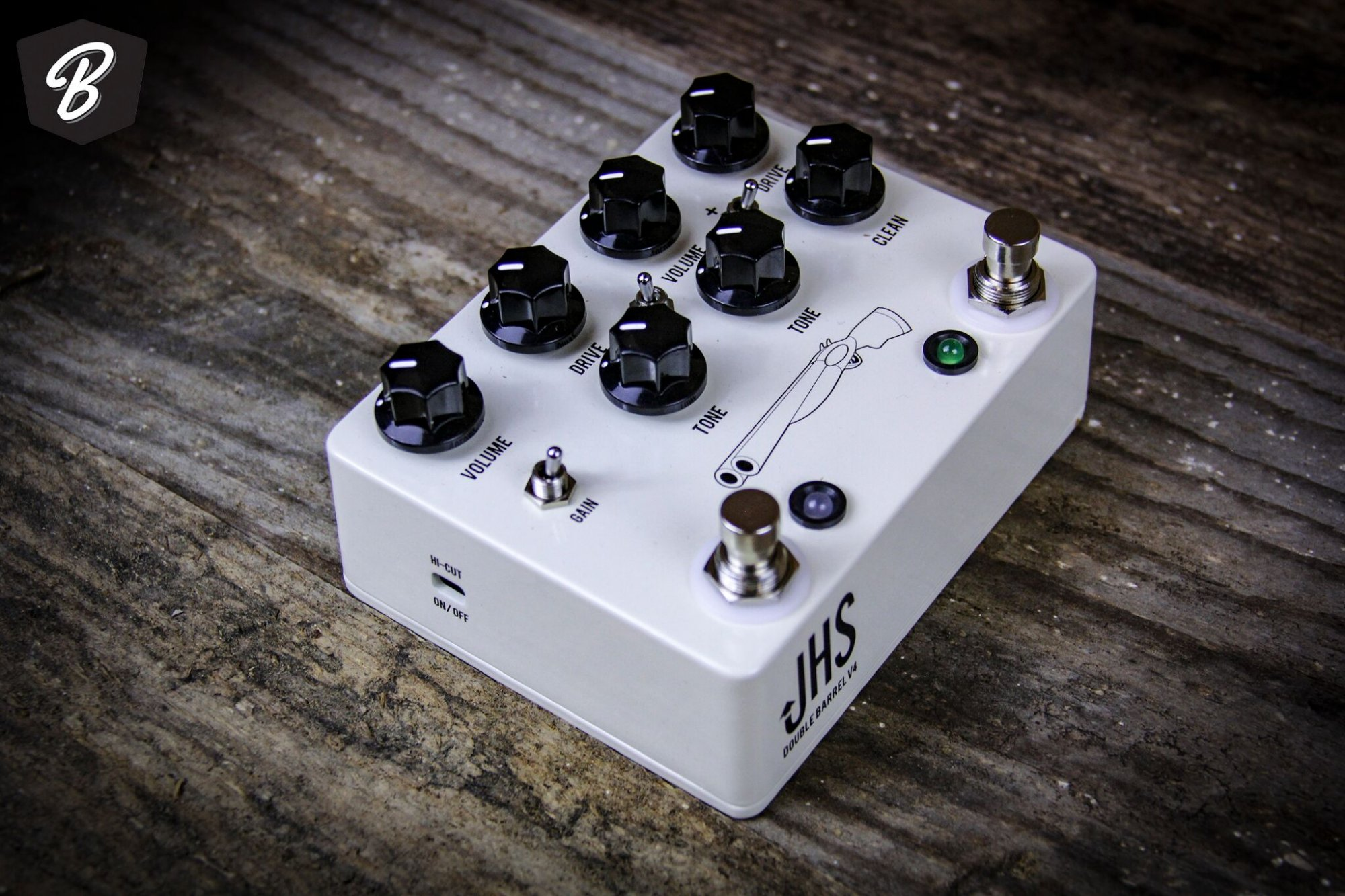 JHS Double Barrel V4 2 in 1 Dual Overdrive Pedal