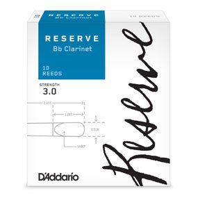 D'addario Reserve Bb Clarinet Reed 3.0 10pk