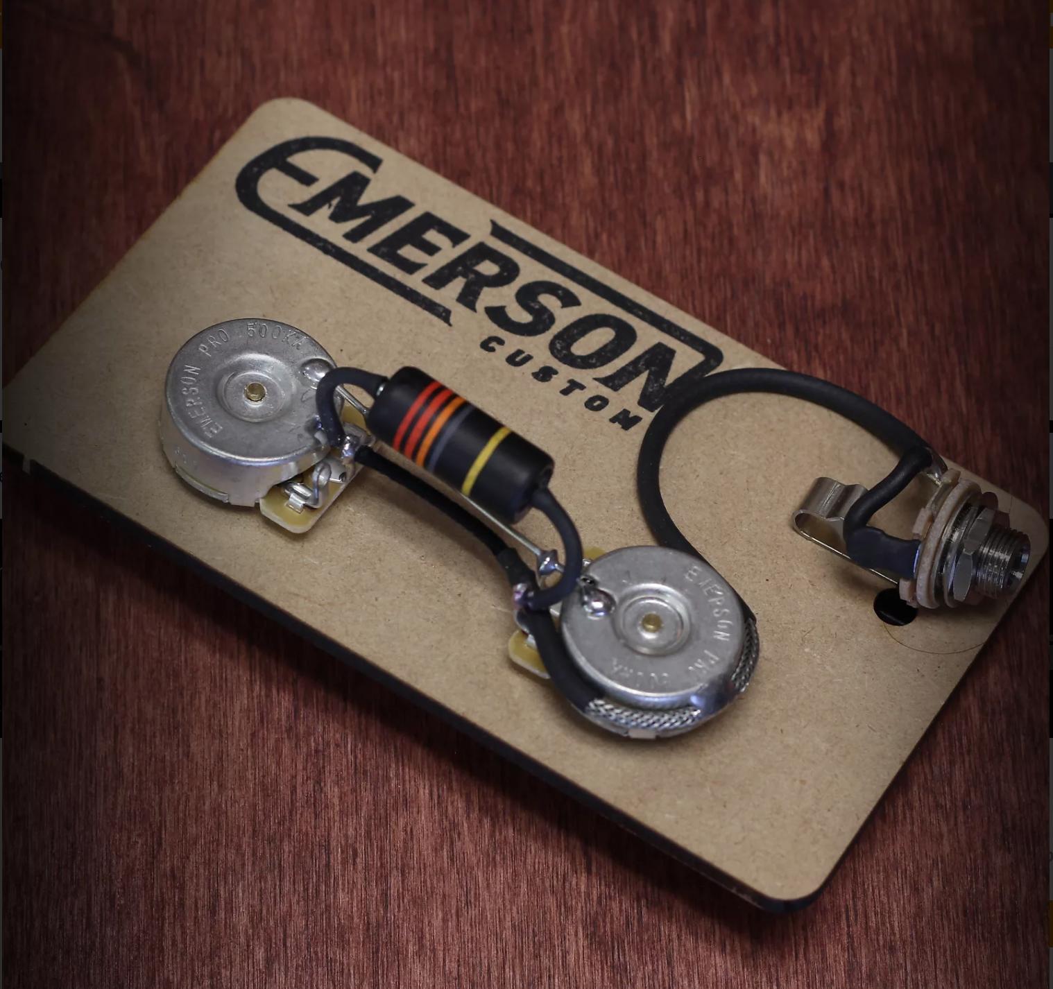 Emerson Custom Les Paul Junior Prewired Kit 0090125220315 Gibson 50s Wiring Harness Long Shaft