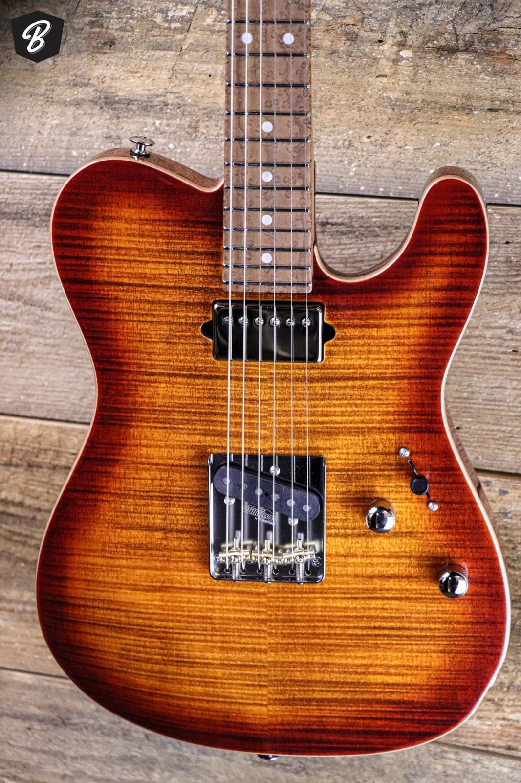 Suhr Custom Classic T Flame Top Copperhead Burst w/Gig Bag