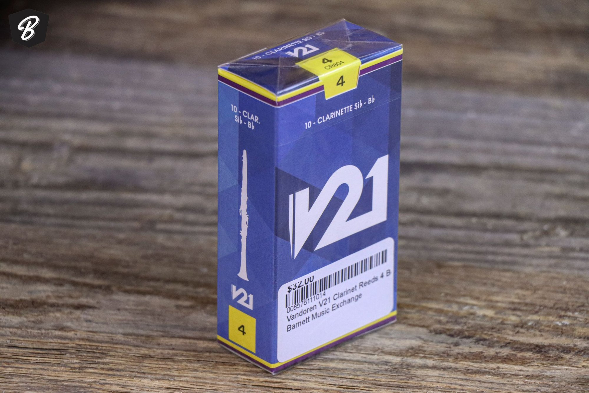 Vandoren V21 Clarinet Reeds 4 Box of 10