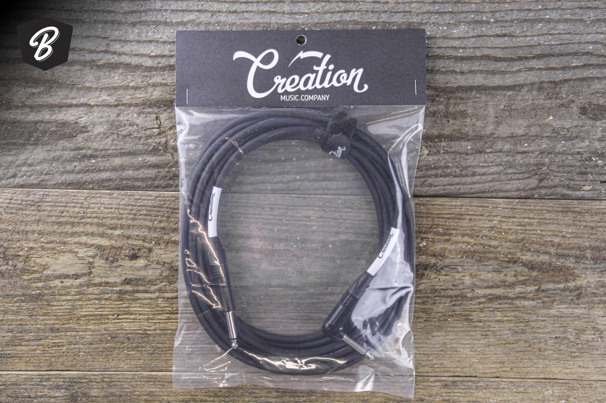 Creation Pro Instrument Cable 20' ST/RA (Neutrik Ends)