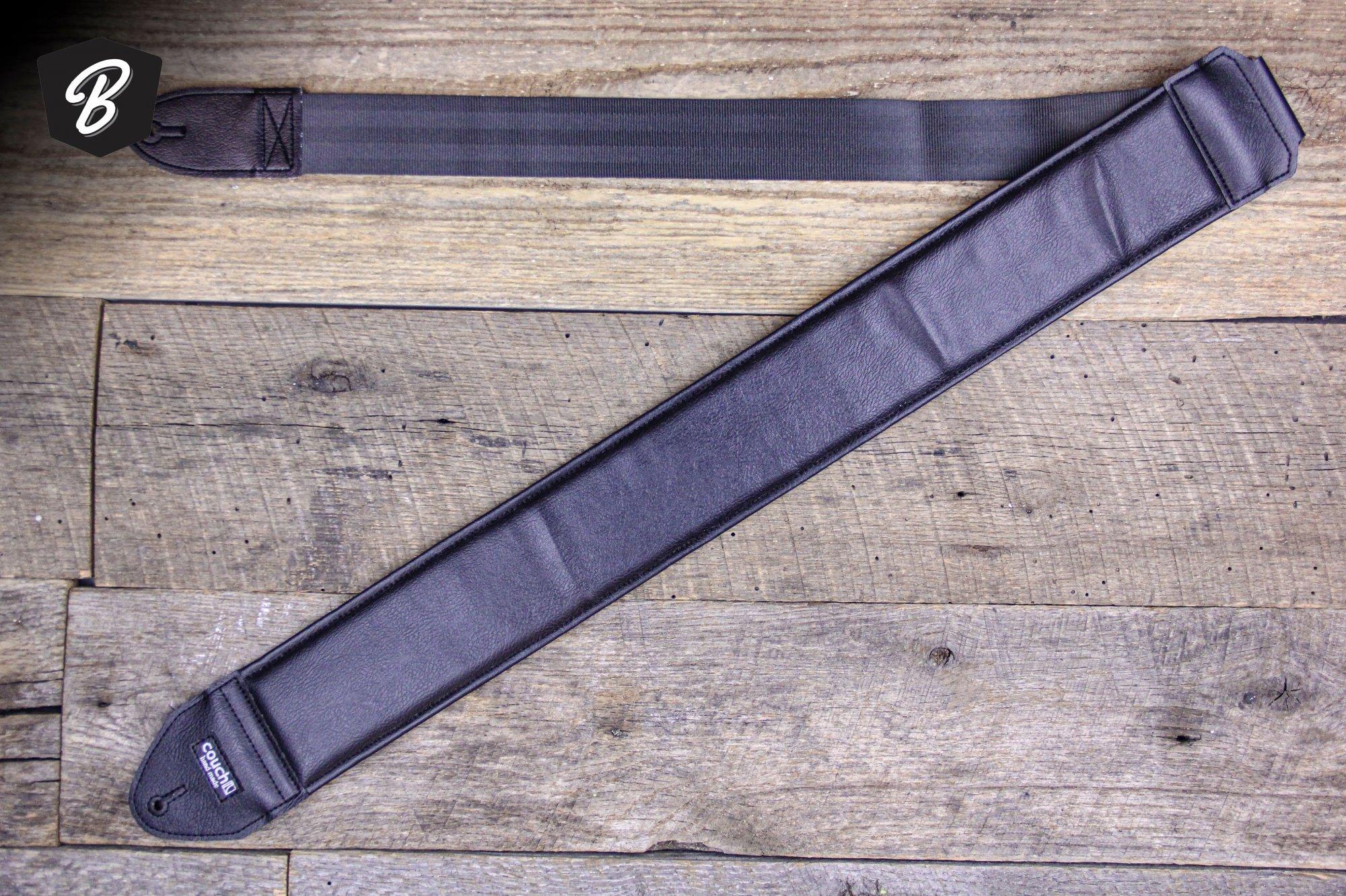 Couch 3 Black Vinyl Bass/Guitar Strap