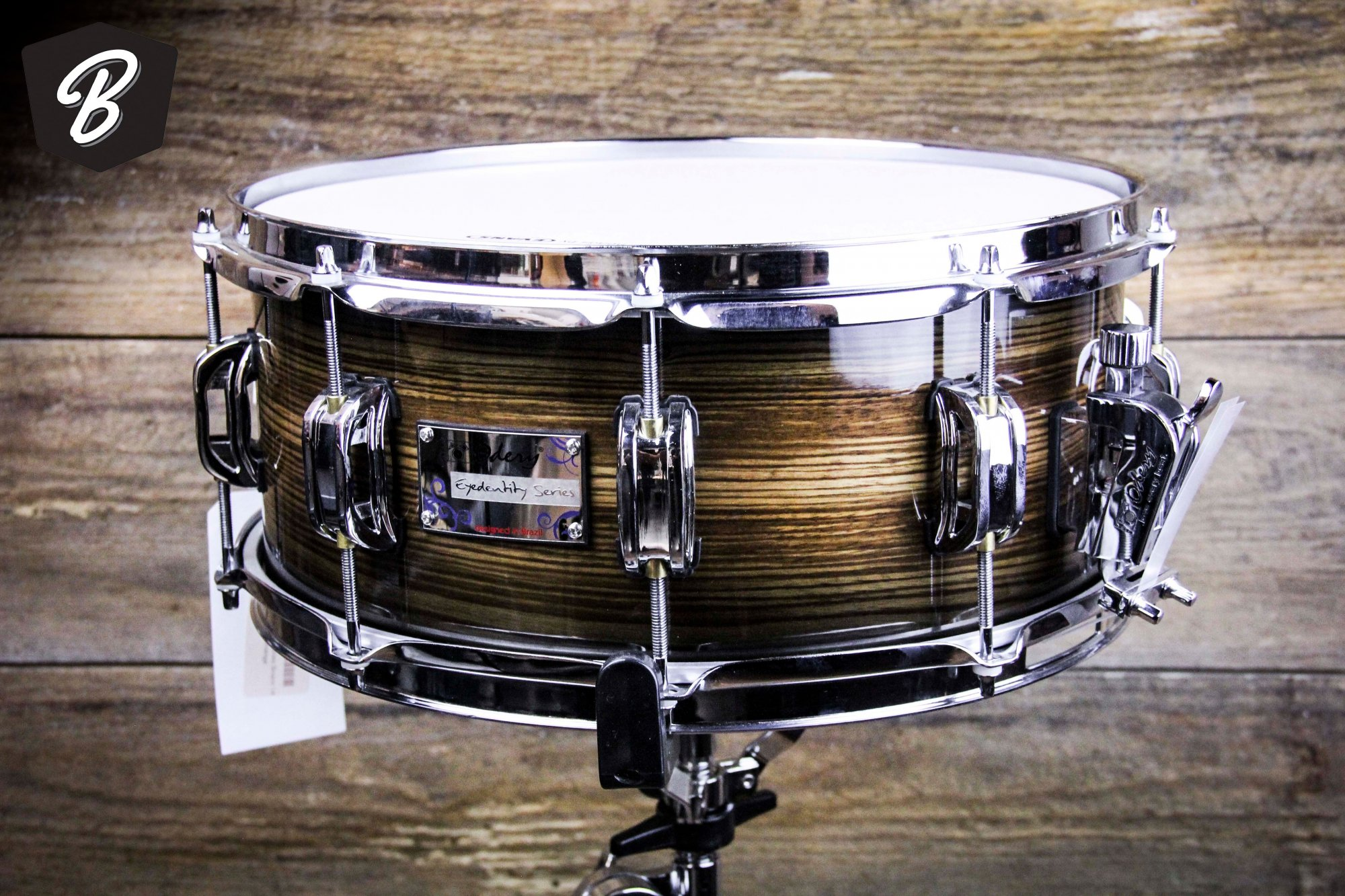 Odery Eyedentity Series Snare 14 x 6 All Birch  Tiger Black Burst