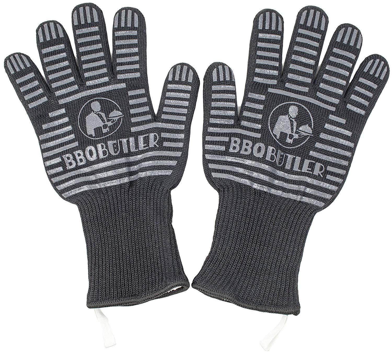 BBQ Butler - Heat Resistant Gloves - Black - 2 Pack