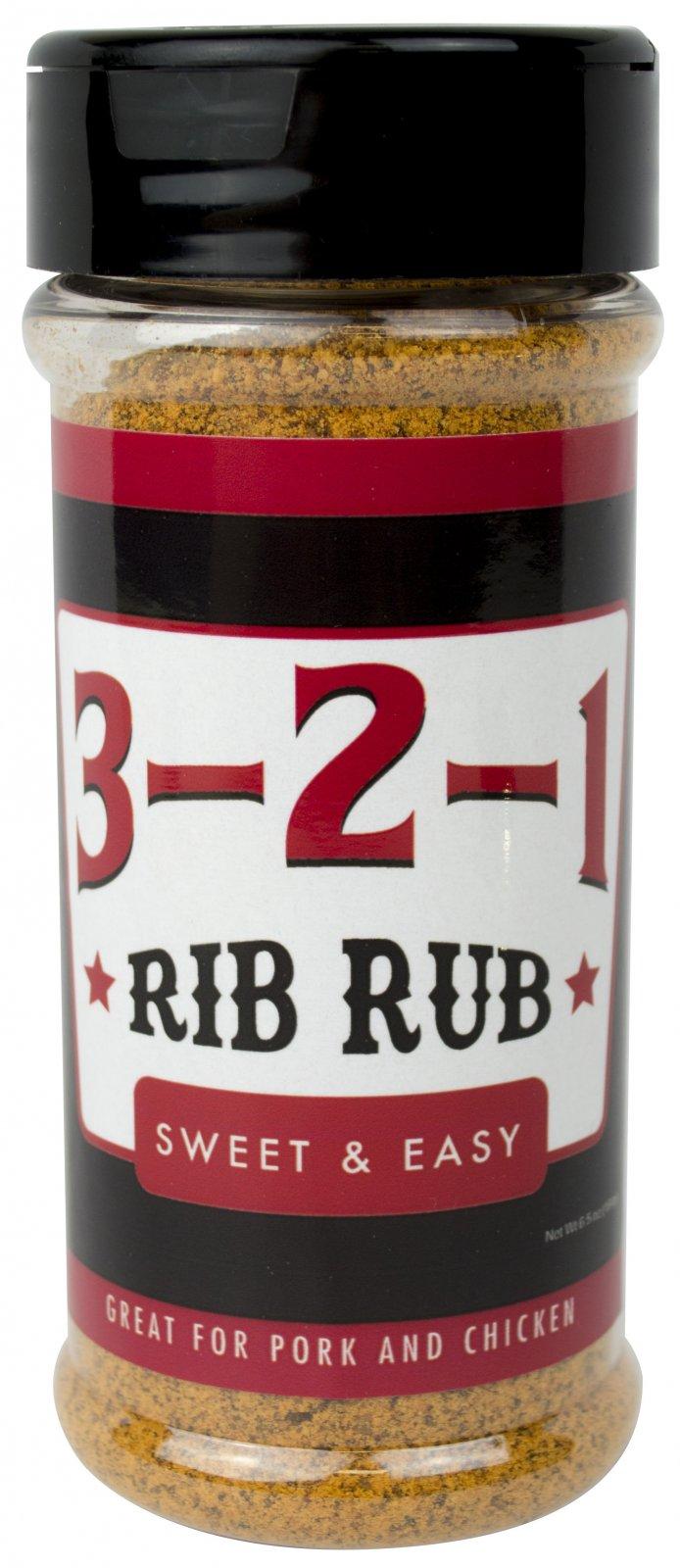 Bear Paw Products - 3-2-1 Rib Rub - 12 oz.